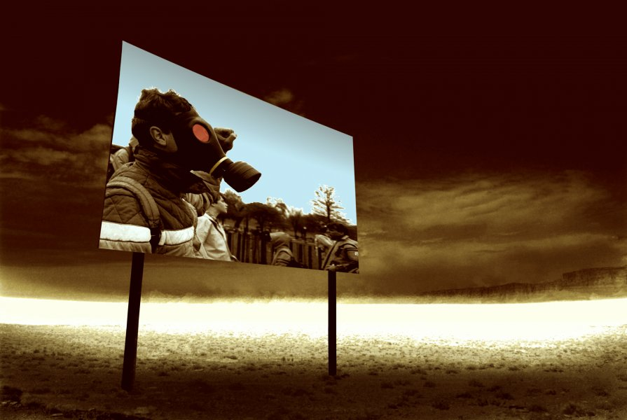 Gas Mask, from the Billboard Series, 1993